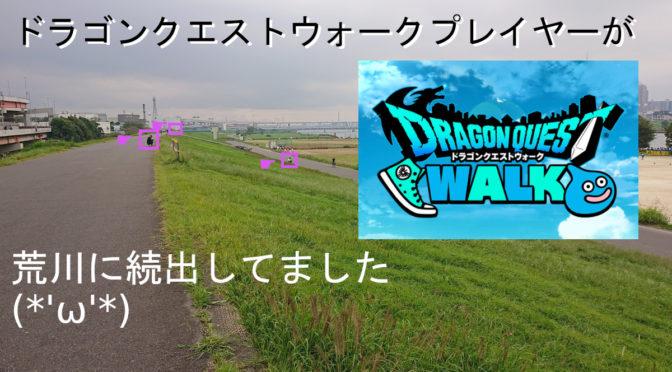 【DQW】ドラゴンクエストウォークプレイヤーが荒川に続出してました(*'ω'*)「効率重視」