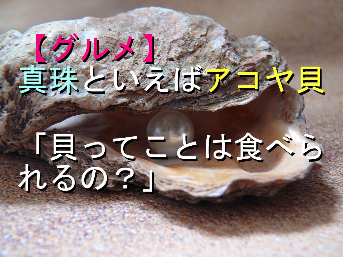 【グルメ】真珠といえばアコヤ貝「貝ってことは食べられるの?」